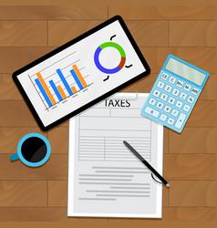 consider taxes concept vector image