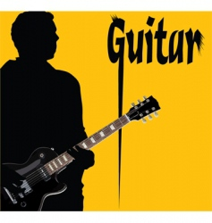 guitar cover vector image vector image