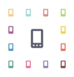 mobile phone flat icons set vector image vector image