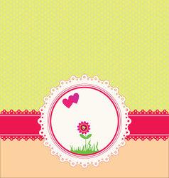 Pastel greeting card vector image