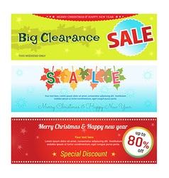 Promotion set of promotion sale discount web vector