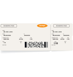Template of airline boarding pass ticket vector