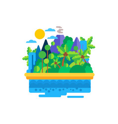 tropical island in the ocean vector image