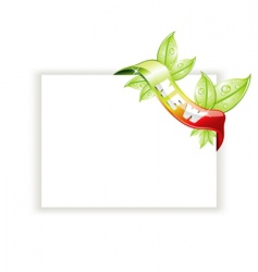 white page with nature tag vector image vector image