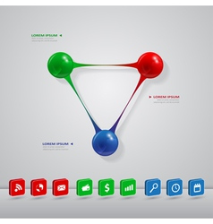 balls infographic vector image vector image