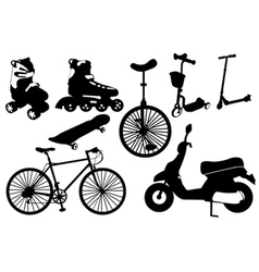 Collage with different objects vector image