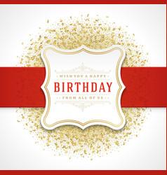 happy birthday greeting card design vector image vector image