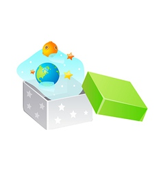 icon earth and planet in the box vector image