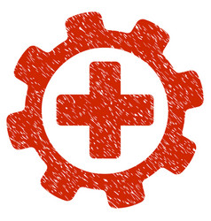 Medical settings grunge icon vector