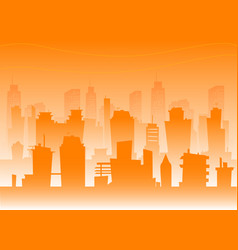 silhouette of the city vector image