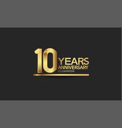 10 years anniversary celebration with elegant vector