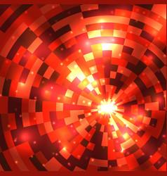 abstract flame round mosaic background vector image vector image