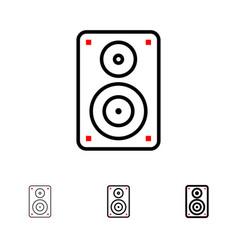 Audio wifi loudspeaker monitor professional bold vector