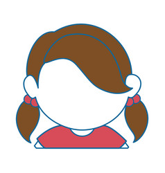 Avatar girl icon vector