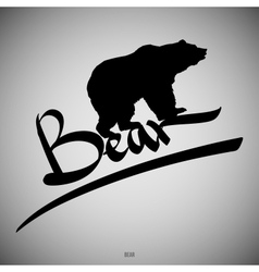 Bear Calligraphic elements vector