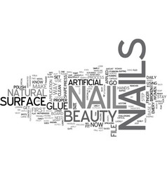 Beauty nails text word cloud concept vector