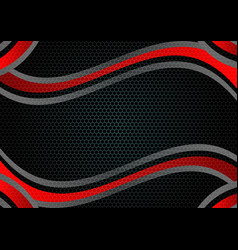 black and red color abstract geometric background vector image