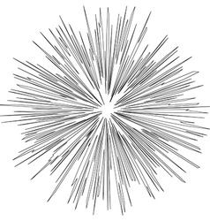 Black hole of Explosion Radial lines vector