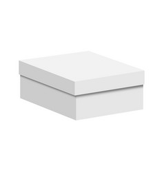 Blank paper or cardboard box vector