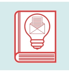 Book idea creative icon vector