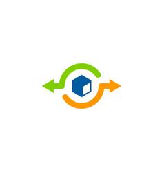 box share logo icon design vector image