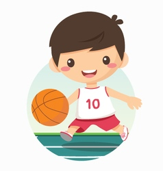 boy playing basketball vector image