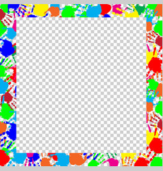 Bright frame with copy space and multicolored vector