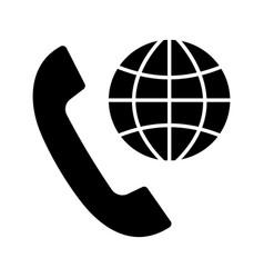 calls abroad glyph icon vector image