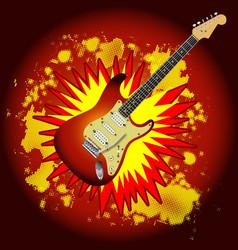 Cartoon guitar explosion vector