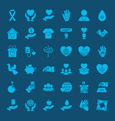 Charity solid web icons vector