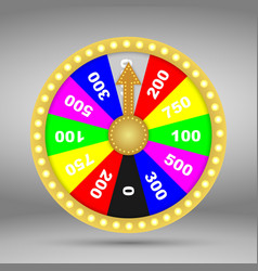 colorful wheel fortune or luck vector image