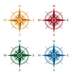 colourful compasses vector image