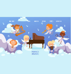 coupidone kids play perfect music vector image