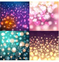 Creative bokeh universal texture abstract colorful vector