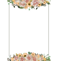 Decorative golden rectangular frame with pink vector