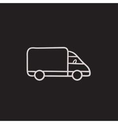 Delivery truck sketch icon vector image