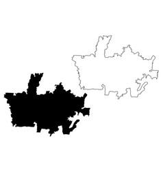 Depok city republic indonesia java island map vector