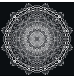 Detailed lace Mandala vector image