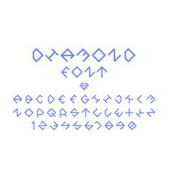 Diamond regular font alphabet vector