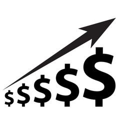 dollar increase icon vector image