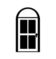 Door house style isolated icon vector