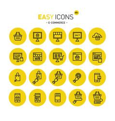 Easy icons 40c e-commerce vector