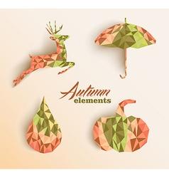 Fall season triangle composition icon set EPS10 vector