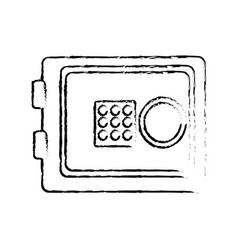 Figure metal safe money in the house secure vector