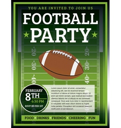 Football Flyer vector image