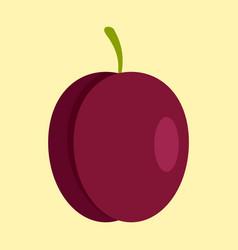 fresh plum icon flat style vector image
