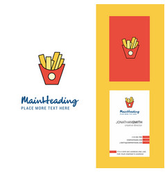Fries creative logo and business card vertical vector
