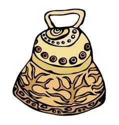 gold wedding bell ship bell church bell ink vector image