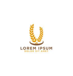 grain logo design template vector image