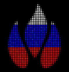 Halftone russian fire icon vector